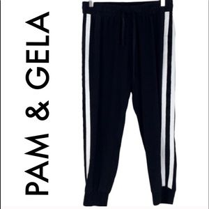 🆕 PAM & GELA SILK CROP PANT/JOGGER 💯AUTHENTIC